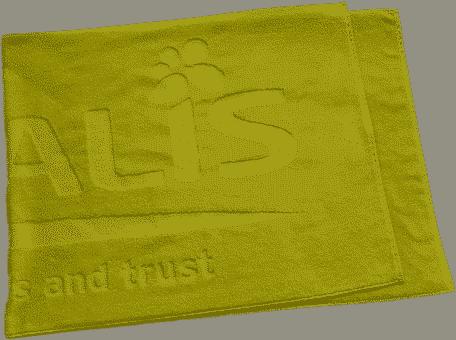Handtuch mit Logo-Einwebung